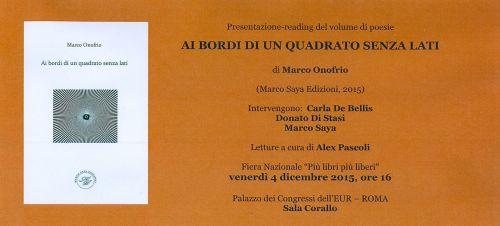 presentazione Marco Onofrio